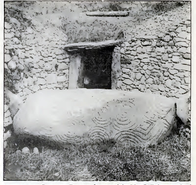 Early plans, drawings and photographs of Newgrange by Irish scholar and archaeologist George Coffey