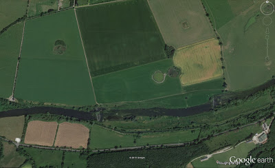 Newgrange henge (site P) clearly visible in Google imagery