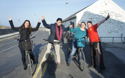 Happy days cycling on Inis Mor
