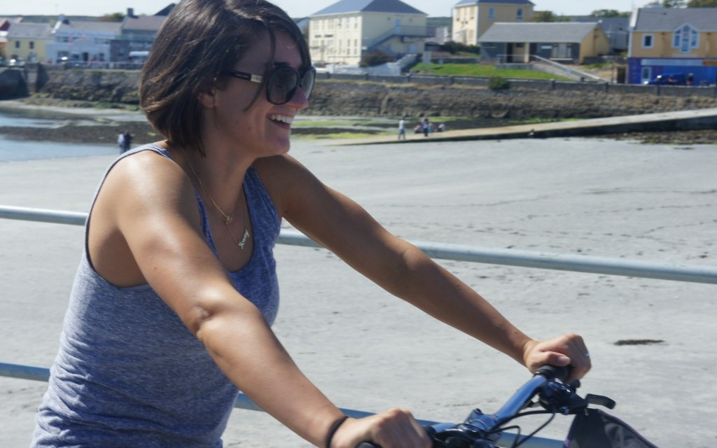 Sunny cycling on Inis Mor