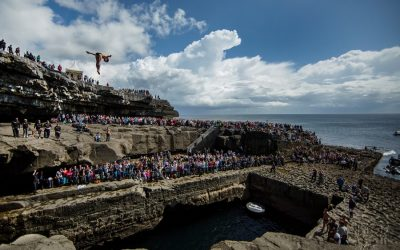 Cliff Divers and Rock Climbers