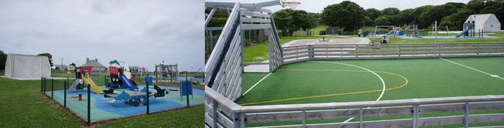 Childrens Playground & basketball court